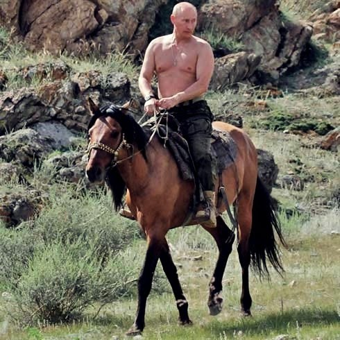 Putin-on-Horseback-Barechested-